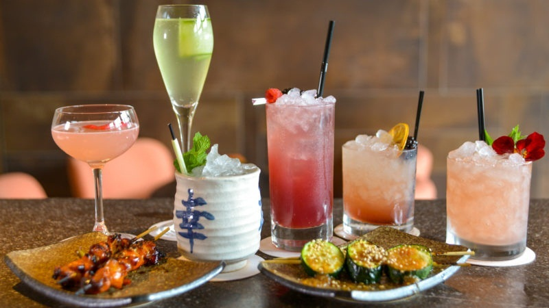 the drinks bar