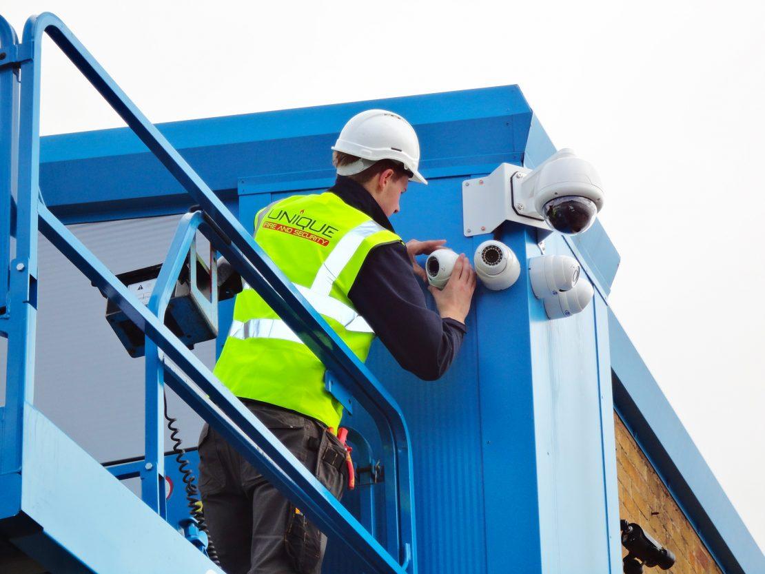 installation of security cameras