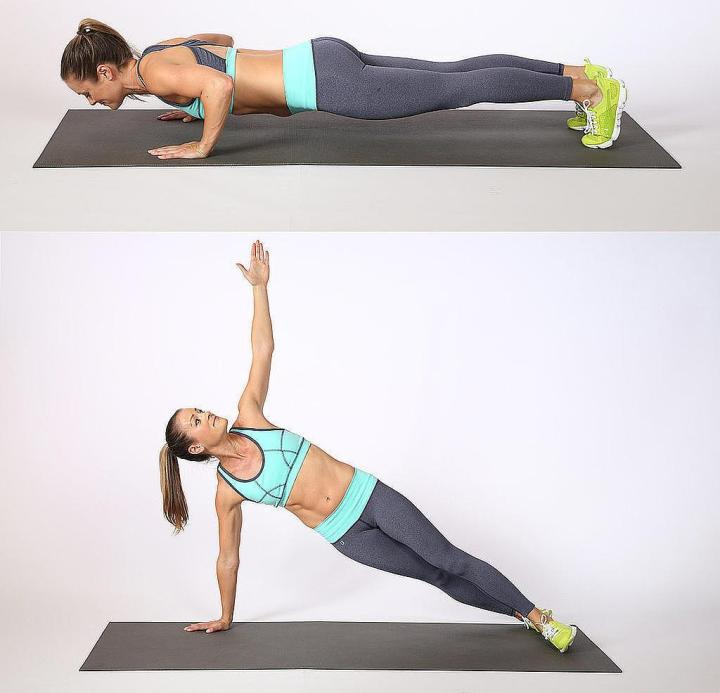 Push-ups with rotation