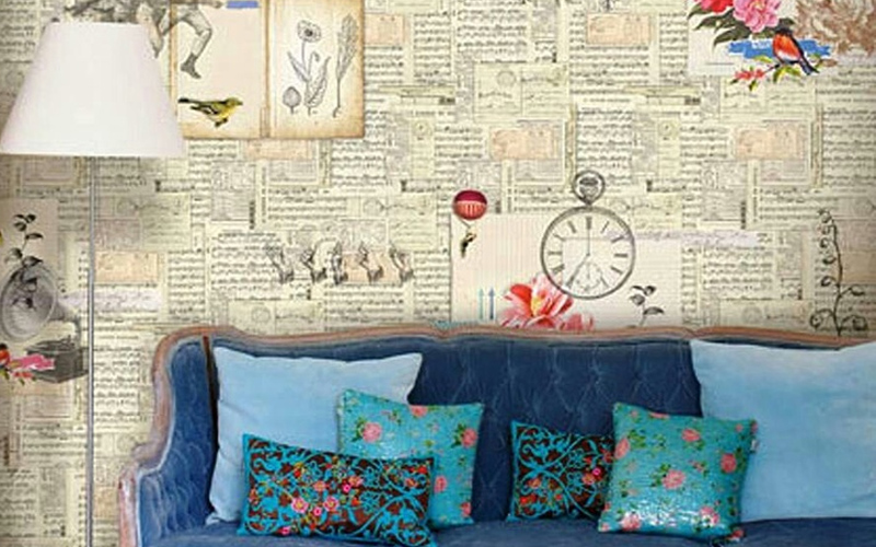 decorate walls with newspaper craft