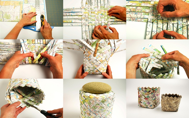 walls with newspaper craft