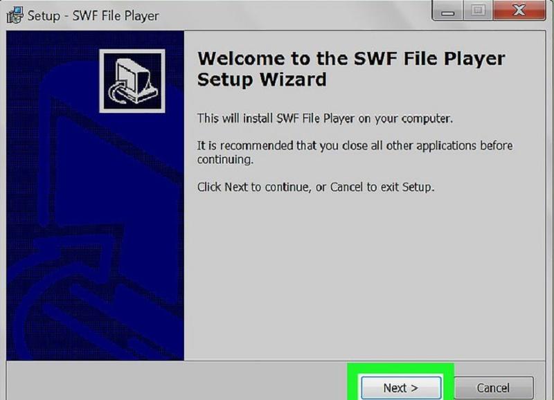 open SWF files in Windows